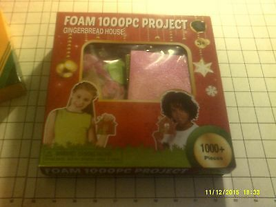 1000 Foam  Gingerbread House Project NEW in Sealed Box Gift Or Play!!!