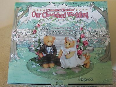 Cherished Teddies - Our Cherished Wedding NEW 3 pc Bride & Groom Collectible Set