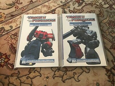 Transformers More then meets the eye official guidebook 1 & 2 IDW Dreamwave