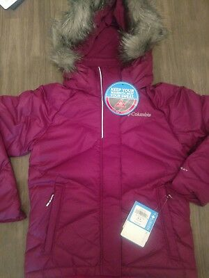 """Columbia Sportswear Youth Down Puffer """"Lay D Down"""" Size M 10/12 MSRP $120"""