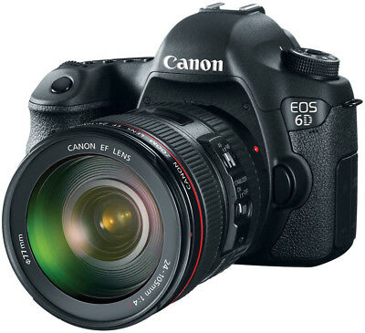 Canon EOS 6D 20.2 MP DSLR Camera with 24-105mm f/4L Lens IS USM