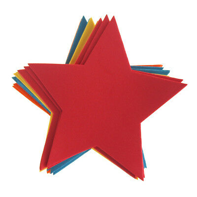 Star Foam Shapes, Assorted Color, 5-1/2-Inch, 12-Piece