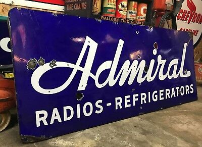 Porcelain Admiral Radios Refrigerators Neon Skin Sign Gas Oil Country Store