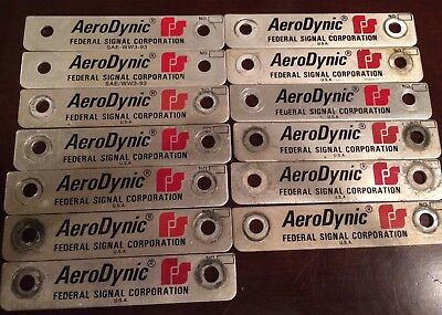 13 Federal Signal Aerodynic Dome Name End Plates (light bar)