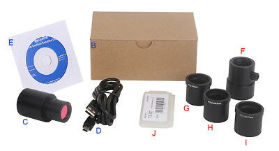 USB 3.0 5MP Microscope Digital Camera Electronic Eyepiece with C Mount adapter