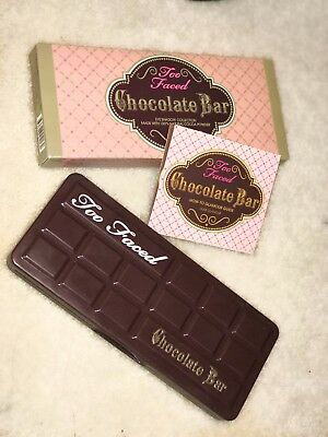 BRAND NEW TOO FACED Chocolate Bar Eyeshadow Palette 16 colors 100% NATURAL COCOA