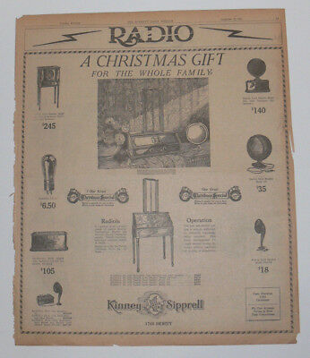 RADIOLA RADIOS & SPEAKERS, 1925 Original Full Page Newspaper Ad