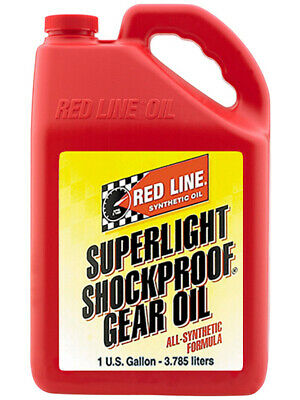 4 x Redline Superlight ShockProof Gear Oil 3.785L (58505)