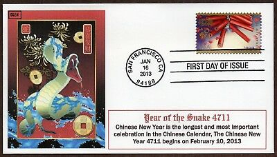 2013 Lunar New Year ~ Year Of The Snake ~ Glen Cachet First Day Cover