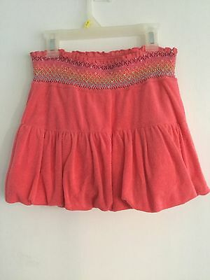 LIMITED TOO By Justice Coral Mini Bubble Skirt Skort Size 14 Sequins Trim CUTE!