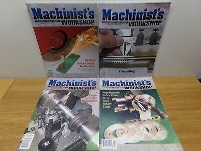 4 Magazines from 2007: Machinist's Workshop #1, #2, #3, #5 - FREE SHIPPING!!!