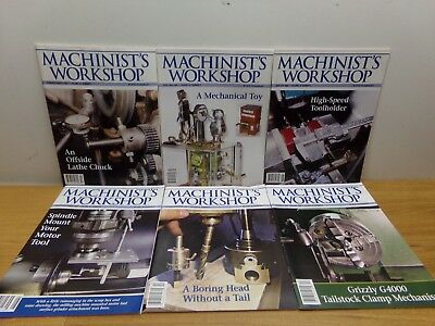 6 Magazines from 2005: Machinist's Workshop #1, #2, #3, #4, #5, #6 - FREE SHIP