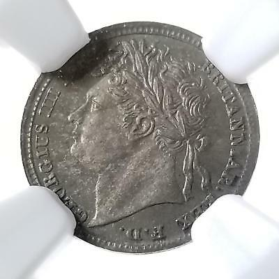 Great Britain 1829 Maundy Silver 1 Pence George IIII MS 65 NGC Great Color