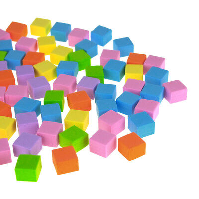 Self-Adhesive Foam Color Tiles, Pastel, 1/2-Inch, 80-Count