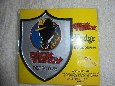 Vintage Disney Dick Tracy Detective Badge pin nos sealed
