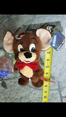 Vintage 1998 Jerry of Tom and Jerry Warner Bros. Studio Store Bean Bags Plush