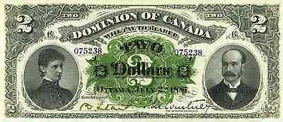 Dominion of Canada 2 Dollars 1887 & 1897 Reproduce