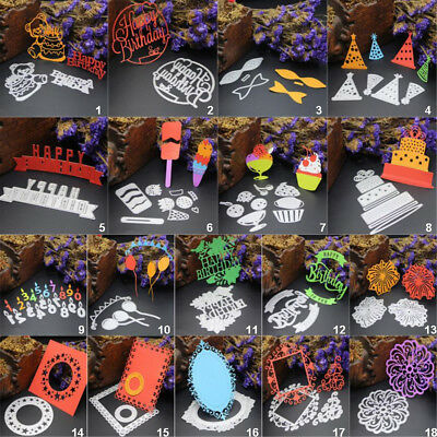 Happy Birthday DIY Metal Cutting Dies Stencils Scrapbooking Paper Card Album