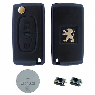 Peugeot DIY Repair Kit – 2 Button Remote Car Key Fob Case with HU83 Flip Blade