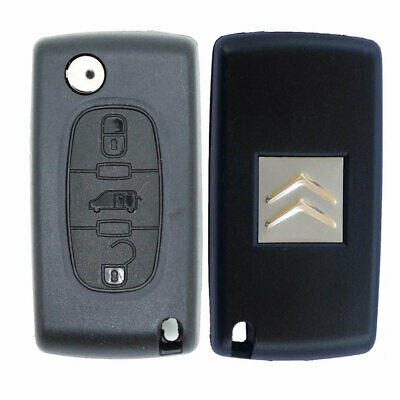 Citroen Replacement 3 Button Remote Car Key Fob Case with VAN Symbol HU83 Blade