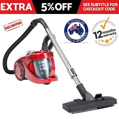 Vacuum Cleaner  2800W Bagless  Cyclone Cyclonic HEPA Filtration System Red