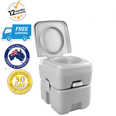 Camping Toilet Portable Outdoor 20L Potty Camp Travel Caravan Chemical Flush