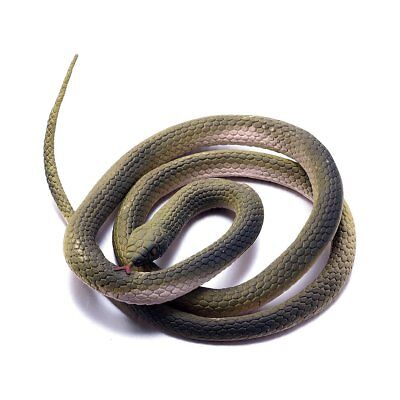 Realistic Fake Rubber Snake Toy 47 Inch Scary Gag Durable Garden Prop
