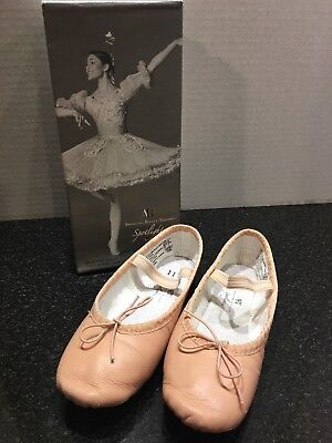 ABT American Ballet Theatre Girls Pink Leather Ballet Shoes Slippers Sz 11.5 EUC