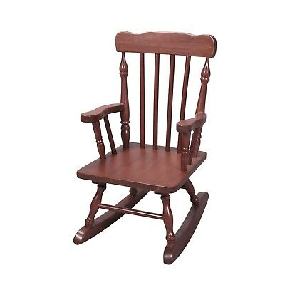Wooden Rocking Chairs Solid Wood Adult Indoor Porch Rocker Antique Look Brown