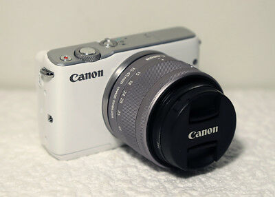 Canon EOS m10 with 15-45 MM IS STM Lens / MEIKE lens adaptor