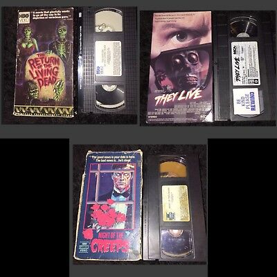 Return Of The Living Dead/they Live/night Of The Creeps Vhs Lot