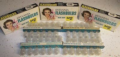 48 Vintage Sylvania M2 Clear Flashbulbs M-2 Flash bulbs