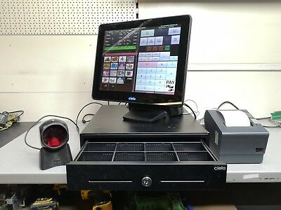 """Complete Epos Till System 12"""" POS Touchscreen with Cashdrawer,  Epos Software"""