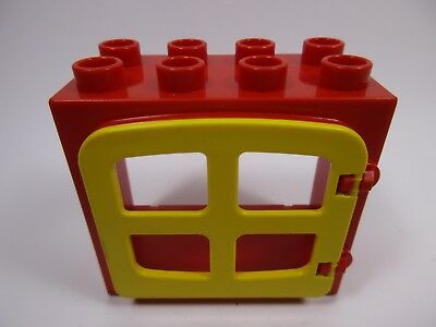 LEGO DUPLO 63871 x1 Tuile Toit Roof Tile 2x3x2 Red Rouge