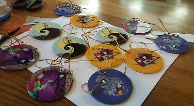 The Nightmare Before Christmas Lot of 12 Christmas Ornaments--Disney Characters