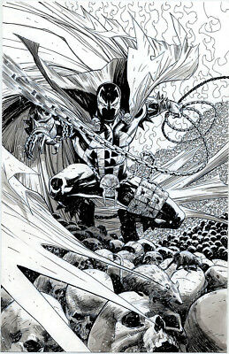 SPAWN Original Comic Art - 11x17 inked Cover Quality - Pat Olliffe