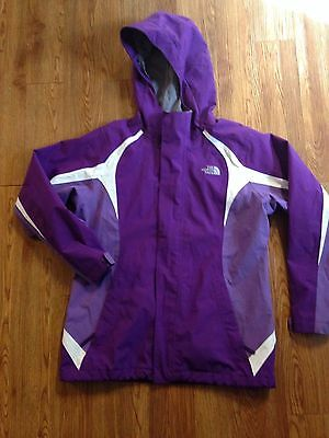 North Face Purple and White Girl's Jacket Sz 14-16 HyVent Purple Hood