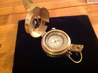 Large Brass Military Style Compass