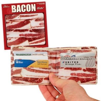 Deluxe Bacon Wallet Faux Leather Bifold Mens
