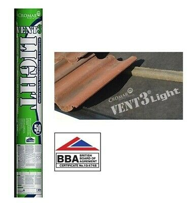 1M x 50 M  Roof Roofing Breathable Felt Membrane FREE DELIVREY