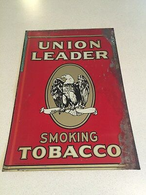 VINTAGE UNION LEADER TOBACCO ADVERTISING SIGN EAGLE 1930s ? Great Look