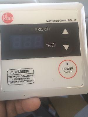 RHEEM UMC-117 TANKLESS WATER  REMOTE CONTROL THERMOSTAT Without Cable Connector