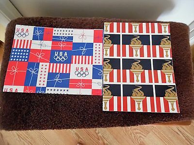Lot of Olympic Wrapping Paper Gift Wrap