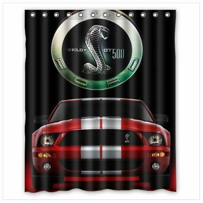 New Limited Great Red Ford Mustang Shelby Shower Curtains 60 X 72 Inch
