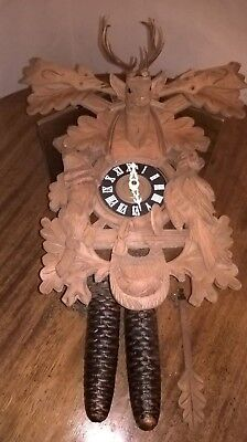 Vintage German Black Forest Cuckoo Clock With A Gm Regula Movement As Found