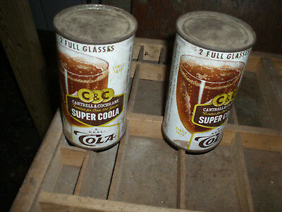 1958 Str/Steel Cantrell & Cochrane Super Coola Cola Soda  Can(unopened) Qty:2
