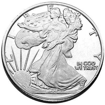 Walking Liberty / 1 Gram .999 Fine Solid Silver Bullion Mini Art-Round/coin