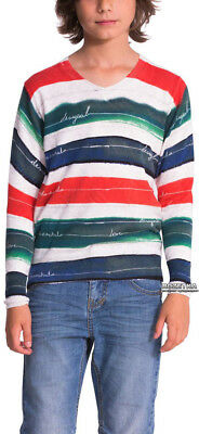 Pull Garcon Desigual Neuf Avec Etiquettes Jers Juno Taille 9/10 Ans