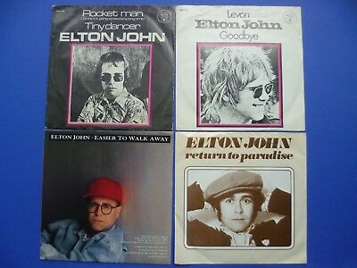 "Elton John 7"" Vinyl Rocket Man Levon Return To Paradise Easier To Walk Away"
