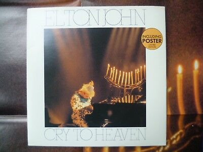 "Elton John 7"" Vinyl Single Cry To Heaven including Poster ltd. edition"